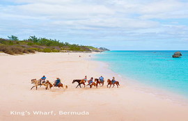 Bermuda is a British island in the Atlantic Ocean known for its beautiful pink-sandy beaches such as Elbow Beach and Horseshoe Bay. The Royal Naval Dockyard is home to modern attractions like the interactive Dolphin Quest with maritime history at the National Museum of Bermuda.